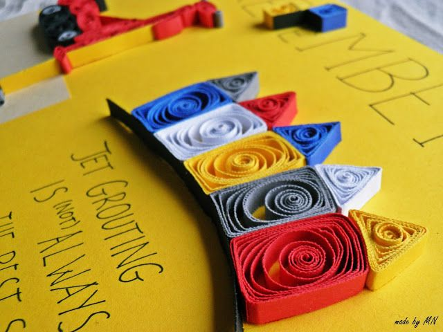 made by MN: Quilling dla drogowców/ Quilling - civil engineers, cars, machines