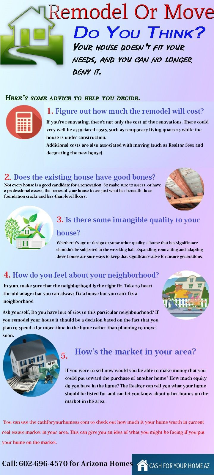 We have created an homeowners infographic to help you make this financial decision wisely.