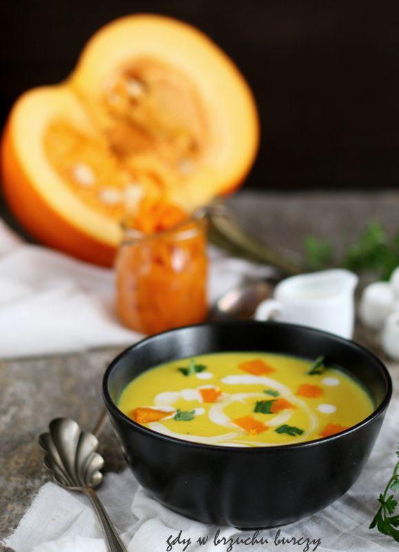 Zupa dyniowa z mlekiem kokosowym