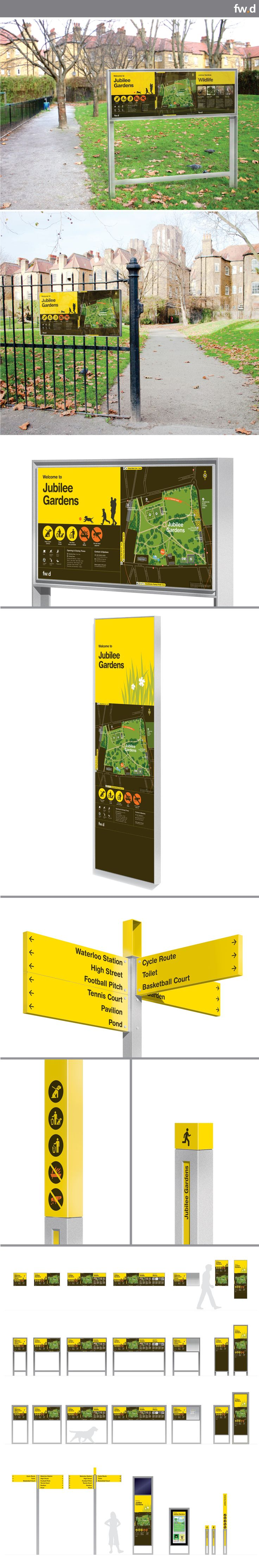 Modular, flexible and clean signage system designed for parks and green spaces. Daisy Sign Family by fwdesign. www.fwdesign.com #signage #environment #park #wayfinding