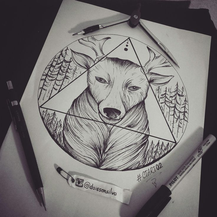 Cervo tattoo insta daissonsilva