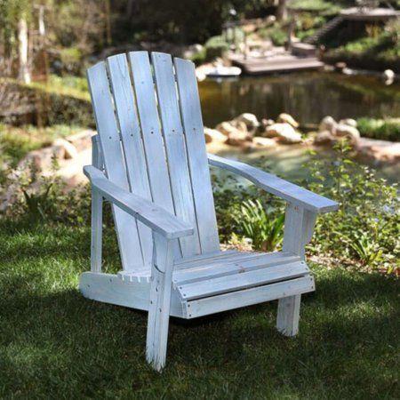 Lakewood Rustic Adirondack Chair - Dutch Blue