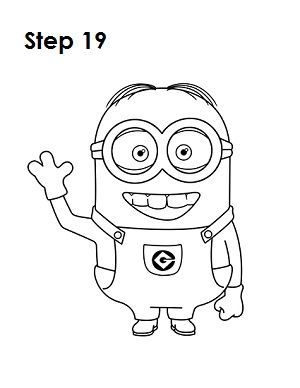 how to draw a minion step by step slowly