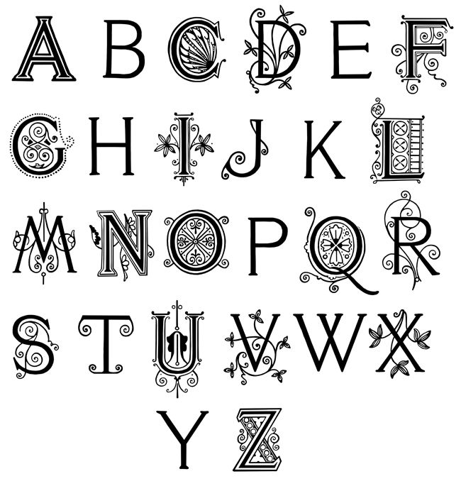 Fancy Alphabet Letters Are From Vere Fosters Copy Books