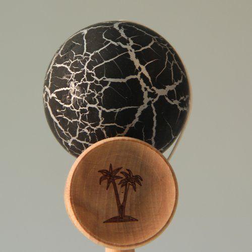 Bahama Kendama Crackle - Black over Silver