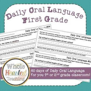 Daily Oral Language is a wonderful way to help students engage in grammar every single day. This packet (60 DOL practice sheets!) is a wonderful way to create DOL books for each child or to be passed out daily. Each daily oral language sheet gets progress