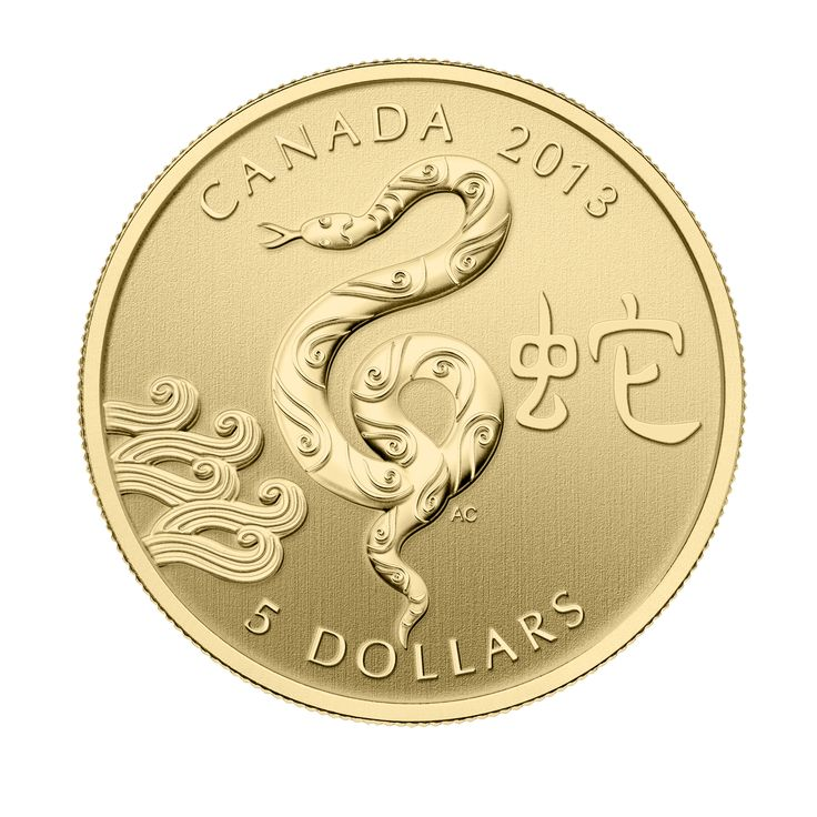 1/10 oz Fine Gold Coin - Year of the Snake (2013)