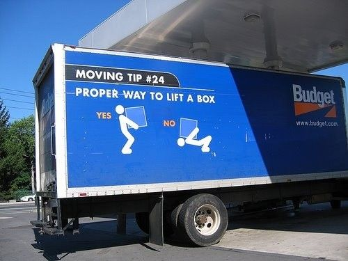 Budget Rental Truck tip, moving humor