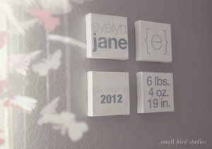 Sucha a cute idea. I really like how they put the weight of the baby when he/she was born.