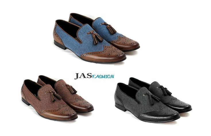 Mens Slip On Smart Shoes Dress Office Casual Tassel Loafers Size 6 7 8 9 10 11