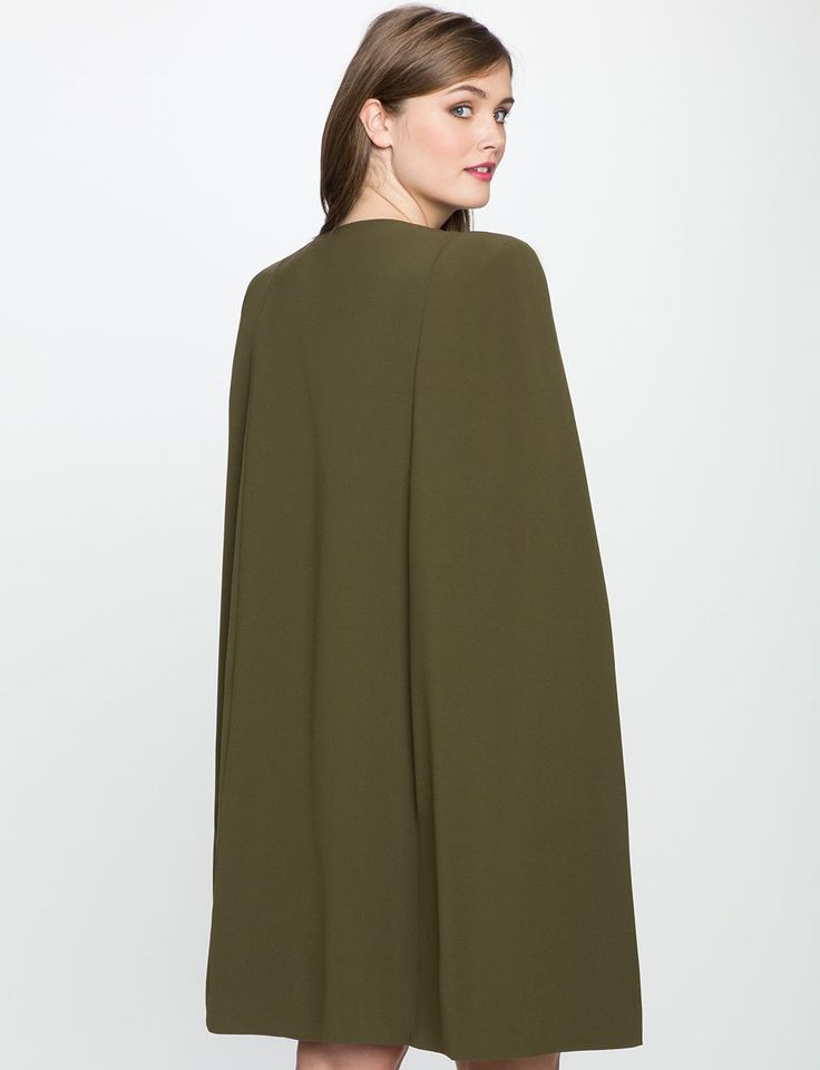 Long Cape Jacket   Women's Plus Size Jackets + Coats   ELOQUII #plussizemodellin... 1