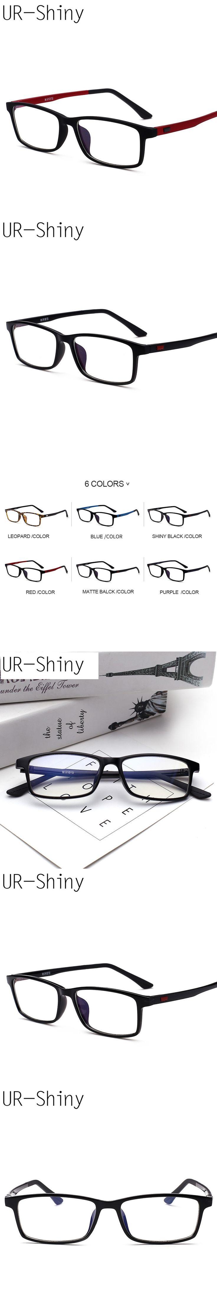 Light TR90 Men Eyeglasses Frame Brand 2017 Plastic Titanium Retro Clear Myopia Optical Designer Glasses Frame Women GJC510A