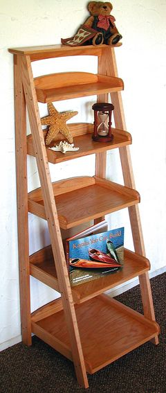 17 best ideas about ladder shelves on pinterest bathroom for Building a bookcase for beginners