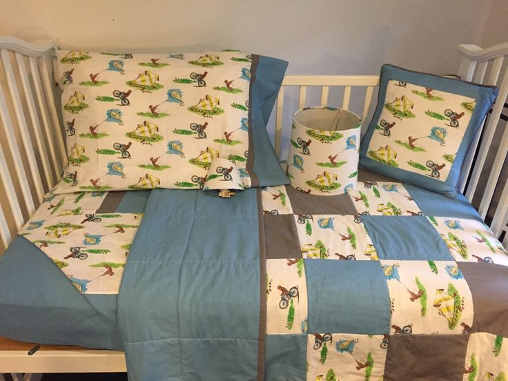 vintage classic curious george fabric boutique crib nursery toddler bedding set by on etsy https