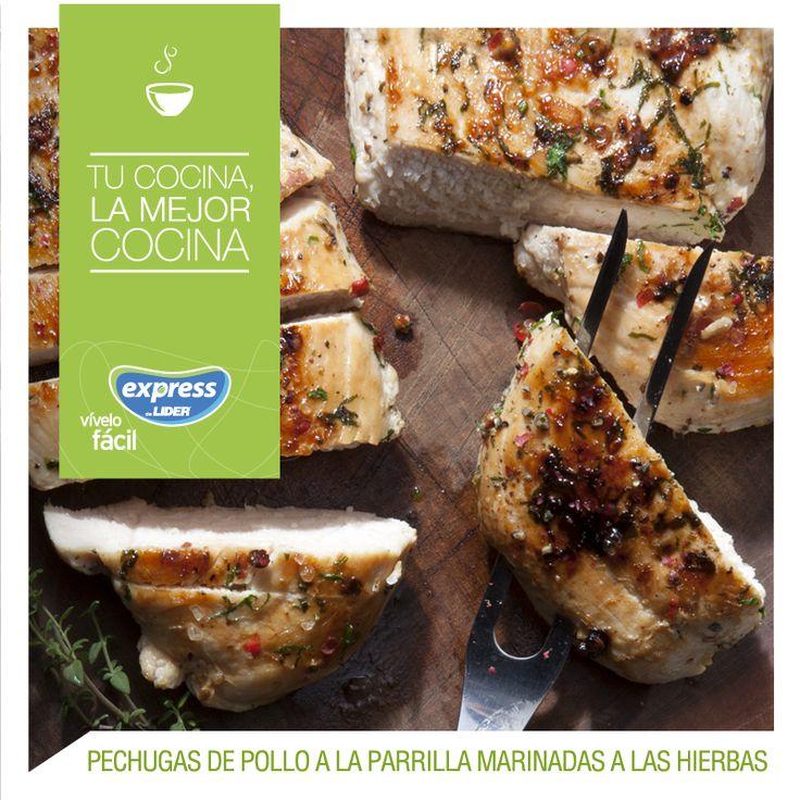 Pechugas de pollo marinadas a las hierbas #Food #Foodporn #RecetarioExpress #Receta #Pollo #Hierbas