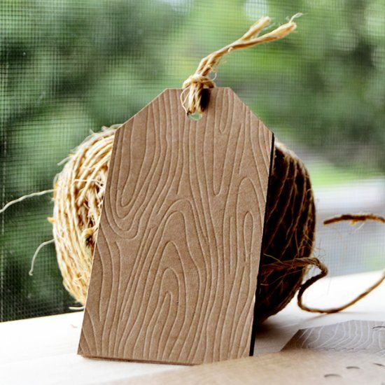 Make your own woodgrain tags using the Silhouette Curio - free file you can download and use to make your own!