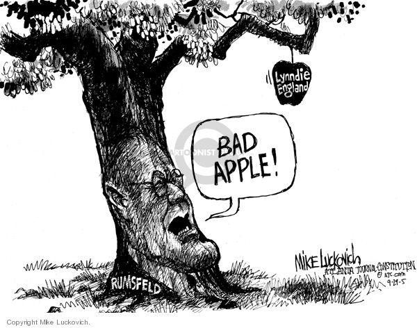rumsfeld bad apple lynndie england