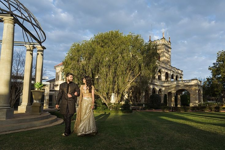 Newlyweds, on a quiet stroll around Curzon Hall  #indianwedding #wedding #sydney  #weddingphotography #curzonhall #bride #groom