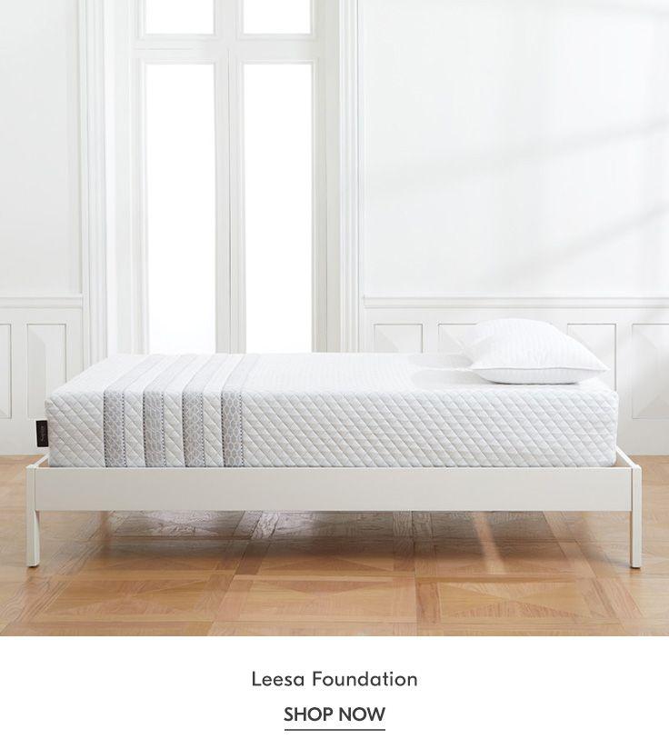Leesa Foundation In 2020 Standard Bed Frame Bed Frame Wooden Slats