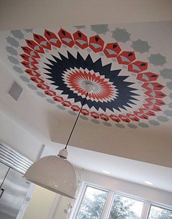graphic ceiling by lisa sherry interieurs inc.