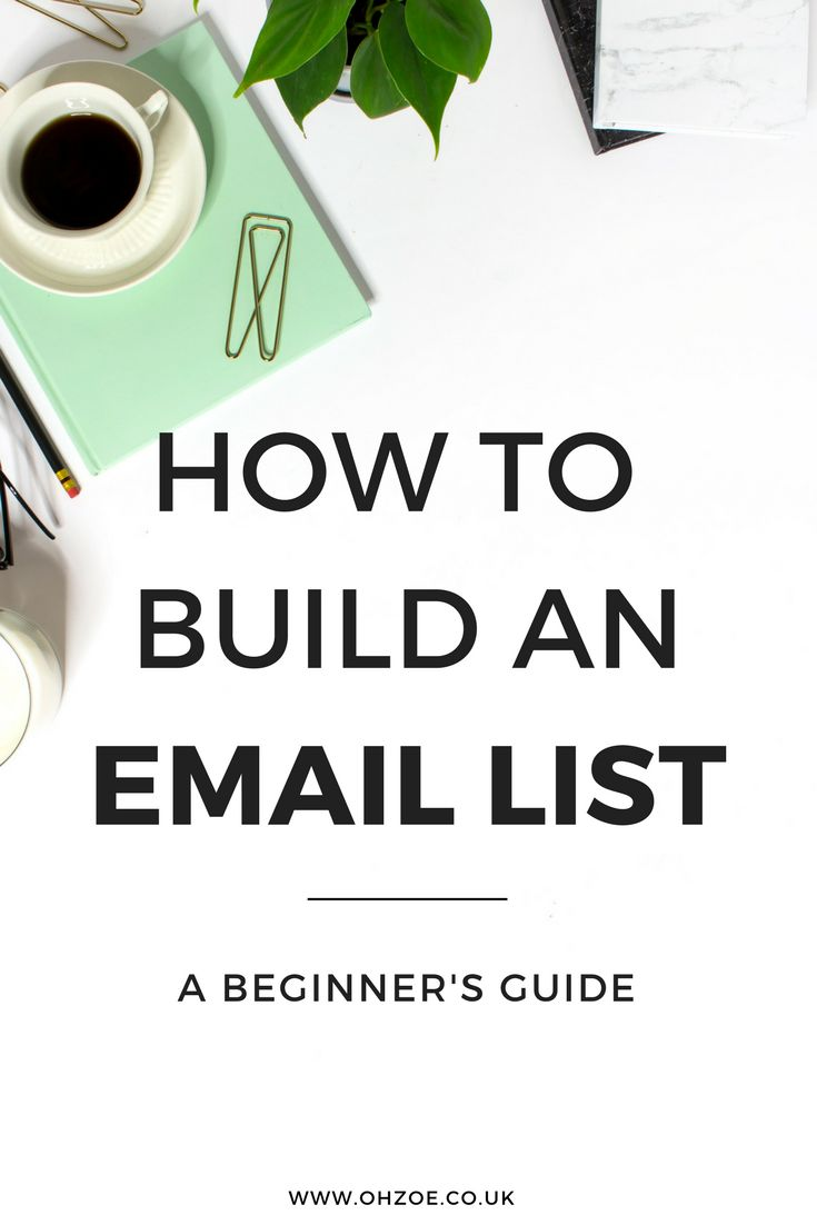 How to build an email list #bloggers #emailmarketing #emailist