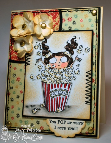 Featuring Pippa Popcorn from the Candy Girls collection by Kraftin' Kimmie Stamps  Designed by Jenny Peterson