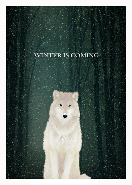 Plants are blooming and calendar says it's Spring, but we all know Winter is Coming! [Winter is coming Art Print]