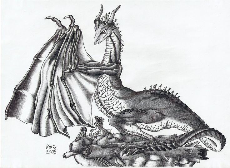 Eternal dragon | ballpoint pen drawing | 2009 on Behance