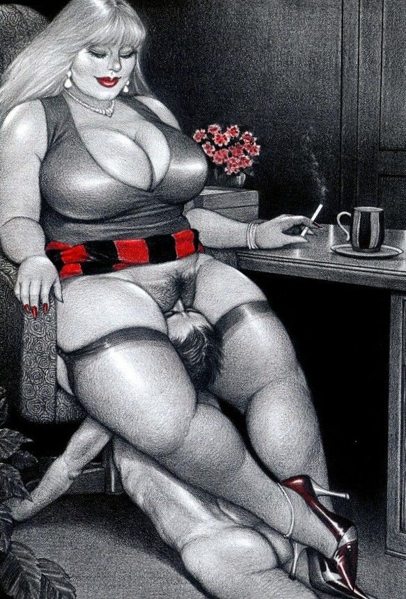 Japanese Bondage Porn Drawings - Lots of facesitting fans prefer the larger woman.
