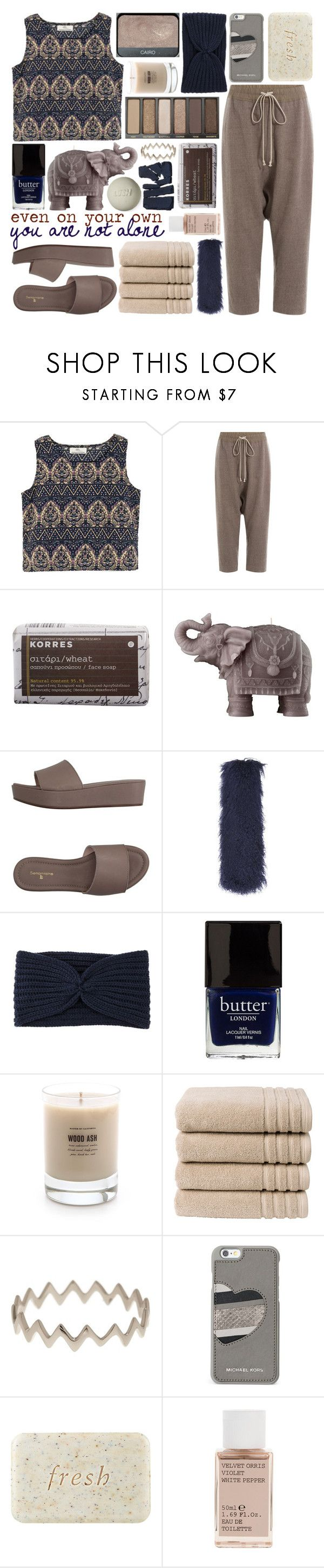 """""""A HEAVY LEAF TO TURN"""" by glowing-eyes ❤ liked on Polyvore featuring Rick Owens, Korres, Mario Luca Giusti, Settantatre LR, Topshop, Hat Attack, Butter London, NARS Cosmetics, Baxter of California and Christy"""