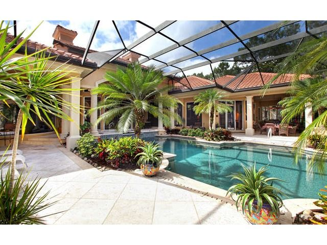 Pool - Pool Cage - Plants and Trees - Lanai Landscaping - Melinda Gunther Naples Realtor: Hot Property of the Day - Grey Oaks - 2919 Indigobush Way, Naples, Fl 34105