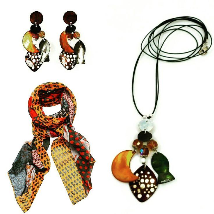 Bijoux en Nacre Aurel Creation, Écharpe en Coton VDMD.... En vente sur aurel-creation.fr