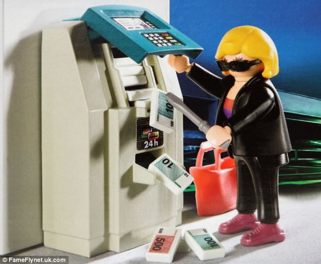 playmobil set re enacting a bank robbery is put on sale at. Black Bedroom Furniture Sets. Home Design Ideas