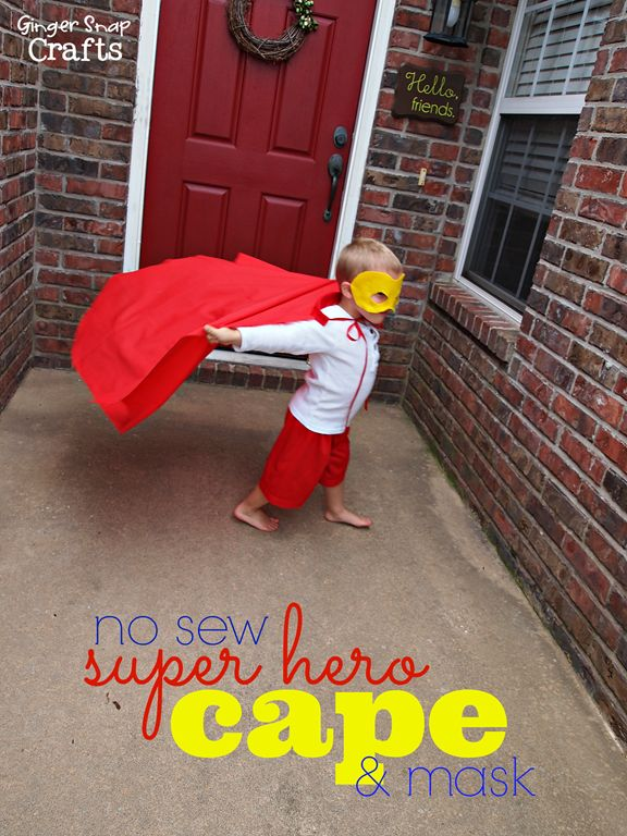 Check out this no sew super hero cape! #gingersnapcrafts