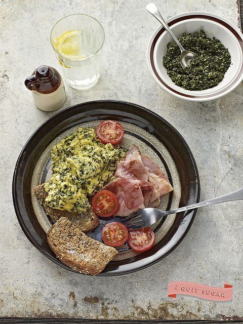 Green Eggs with Ham from Sarah Wilson's best-selling I Quit Sugar Cookbook. Pre-order your copy today!