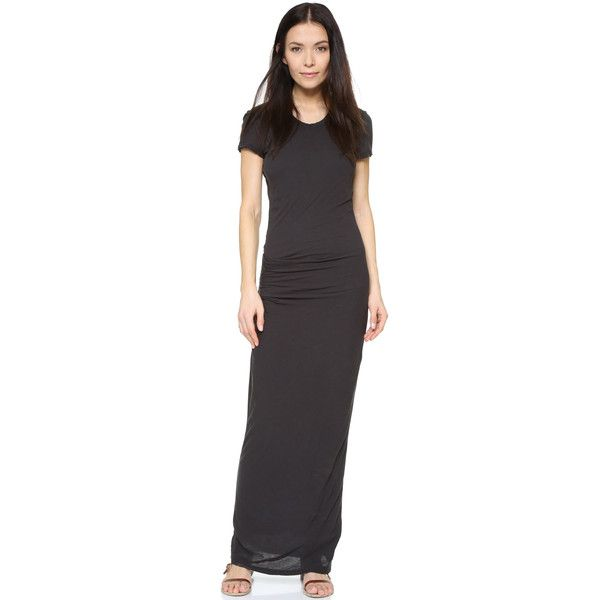 James Perse Short Sleeve Maxi Tee Dress ($280) ❤ liked on ...