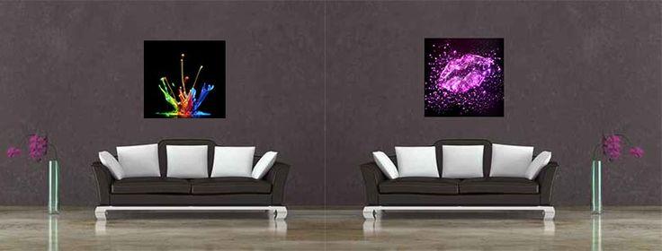 Des tableaux design pour habiller les murs du salon on passe au salon p - Habiller un mur interieur ...