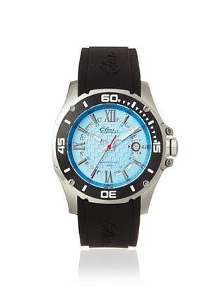 Elini Barokas Men's 10196-012-BB Artisan Black/Blue Silicone Watch