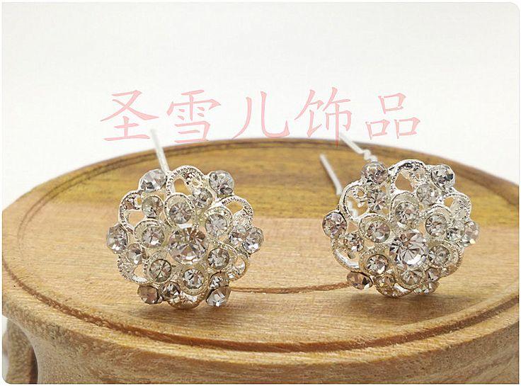 10 יחידות כלות חמוד פרח סיכות שיער חתונה סיכת יהלומים מלאכותיים גביש קליפ שיער קומבס שיער תכשיטי וינטג 'אביזרי H-387