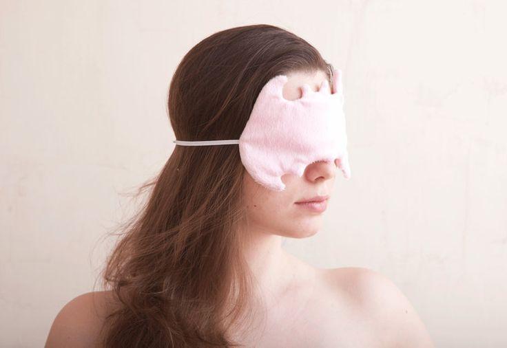 Schlafbrillen - Schlafbrille, Schlafmaske, Batman, rosa - ein Designerstück von…