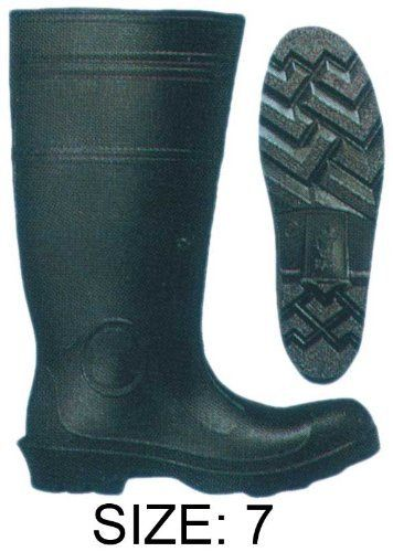 "PVC BLACK KNEE BOOT STEEL TOE #7 by RAIN GUARD. $26.78. Pvc Boot : : (Rain Guard) 16"" Back Pvc Boot , Over Sock, Steel Safety Toe Sizes: 7-13. Save 26% Off!"