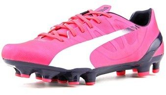 Puma Evospeed 4.3 Fg Jr Soccer Cleats Youth Round Toe Synthetic Pink Cleats.