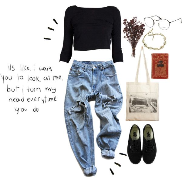 shy little sh*t by badasskitty on Polyvore featuring mode, Levi's, Vans, Borders&Frontiers, Ray-Ban, Edition, cute, indie, ootd and shy