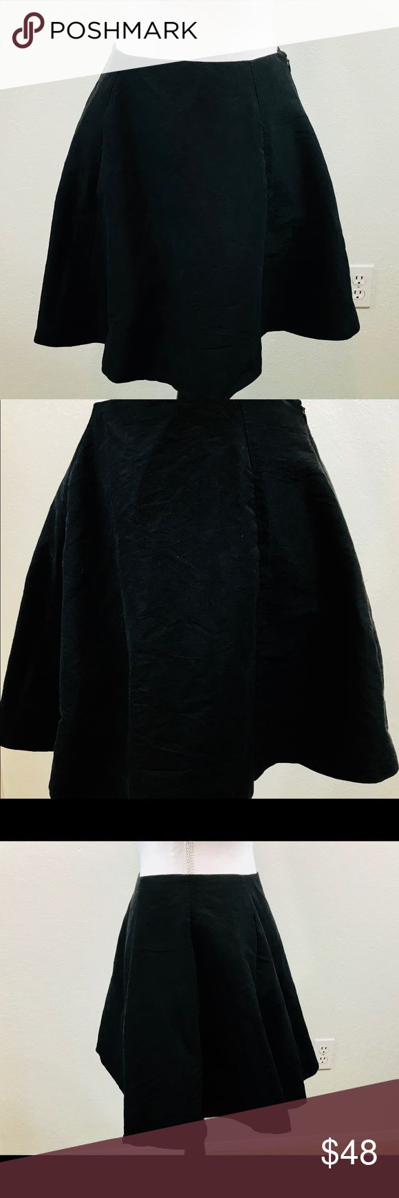 "KATE SPADE NEW YORK Bell Skirt Womans Size 4 Black KATE SPADE NEW YORK Bell Skirt Womans Size 4 Black Solid Mini Lined Cotton Silk Side Zip  Waist: 26"" Length: 17"" kate spade Skirts Mini"
