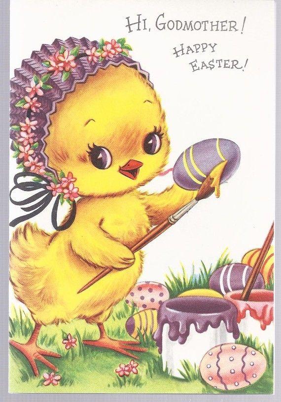 E18 Vintage 60's Unused Child's Easter Greeting Card by jarysstuff