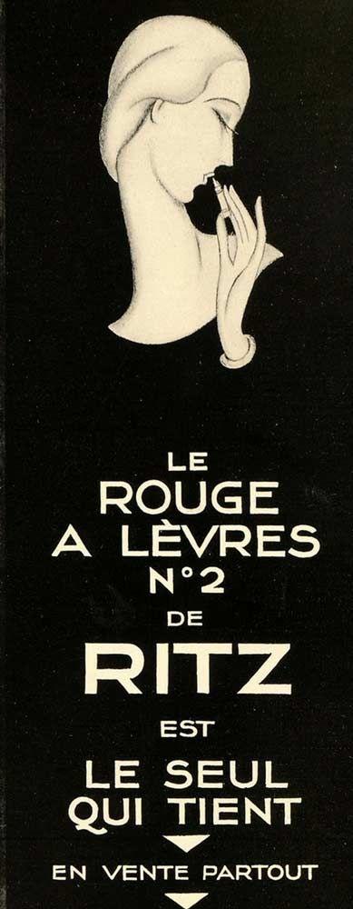 1928 vintage Ritz lipstick advertisement