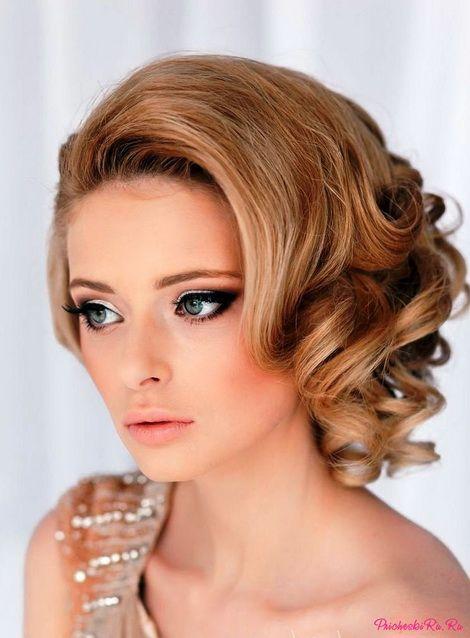 Прически для невесты на короткие волосы фото