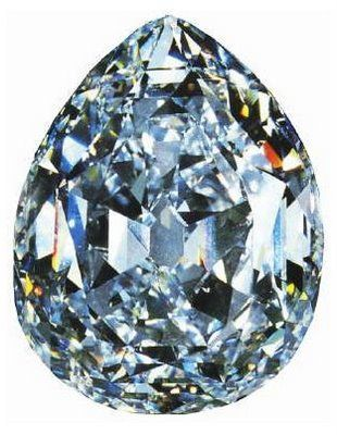 The Cullinan Diamond    This is a monster of a diamond at 3,106.75 carats and considered the biggest in size for a rough cut diamond. Polished size left this diamond with a modest 530.2 carats.