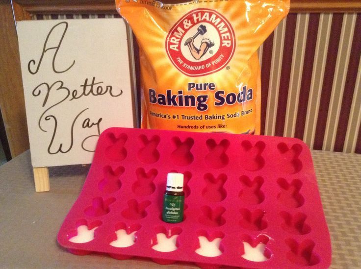 This is cool; I liked the Vicks tabs but can't find them. ----Homemade Shower Tablets for congestion. Make a paste with baking soda and water. Add Young Living Eucalyptus essential oil. Mix together and spoon into silicone mold of choice. Let dry completely. Once dry, place into tub as you shower. See if this doesn't clear those sinuses.