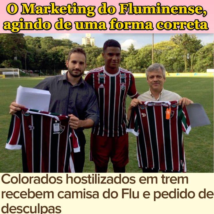 O Marketing do Fluminense, agindo de uma forma correta [Globo Esporte] http://globoesporte.globo.com/noticia/2016/12/ficou-sabendo-colorado-hostilizado-em-trem-ganha-camisa-e-carta-do-flu.html ②⓪①⑥ ①② ①③